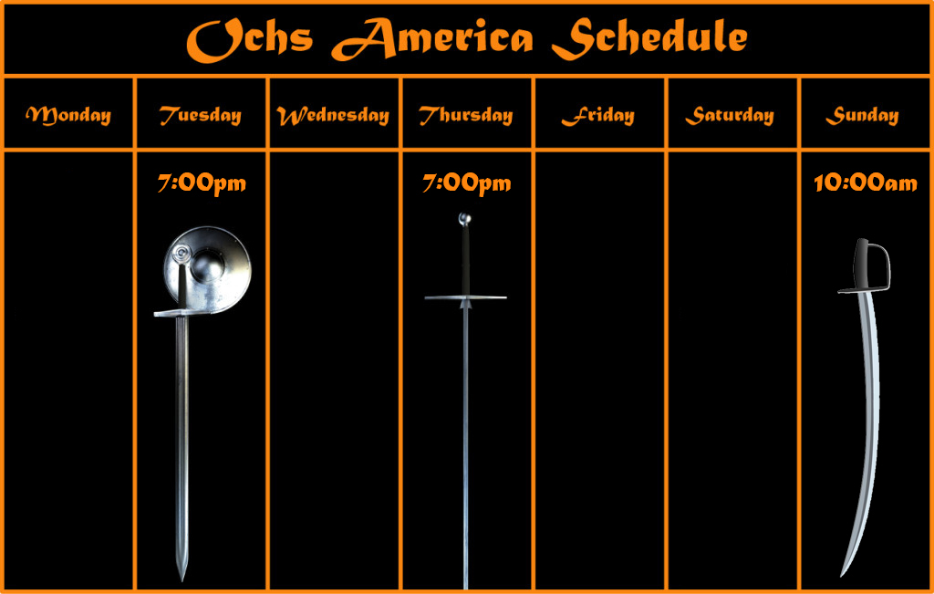 Ochs Training Schedule